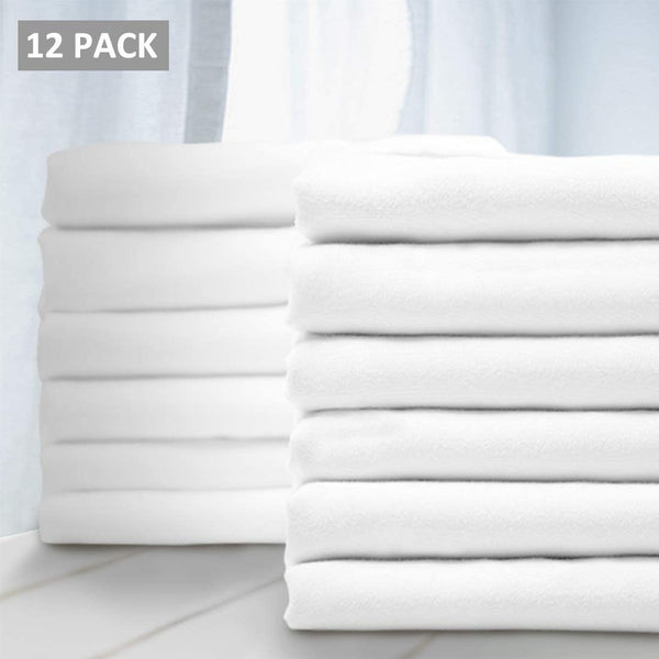 Balichun Premium Queen Pillowcase 12 Pack - Standard White - 1800 Thread Count - Soft Brushed Microfiber Allergies Free - Wrinkle Resistant - Tailoring Iron - Bulk Pillowcases Set of 12,1 Dozen