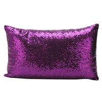 Jushye Christmas Pillow Case, New Sequins Sofa Waist Throw Cushion Cover Home Decor Decoration Festival Pillow Case Rectangle Cushion Cover (c)
