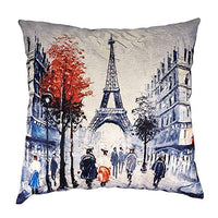 "MuaToo Decorative Art Old and Weathered Grunge Texture Cyan Blue red Orange Yellow Throw Pillow Case Cushion Cover 20"" x 20"" 50x50cm"