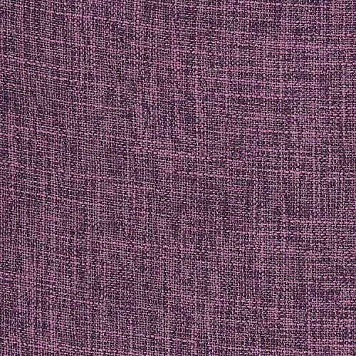 Lewondr Fine Linen Throw Pillow Cover, Set of 2 Square Soft Woven Fine Throw Pillow Case Sham Sofa Cushion Decoration Solid Color Pillowcase 12x20 Inch(30x50 cm) - Purple