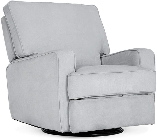 9TRADING Lounge Sofa Recliner Linen Seat Rocker Home Theater Living Room Deluxe, Gray