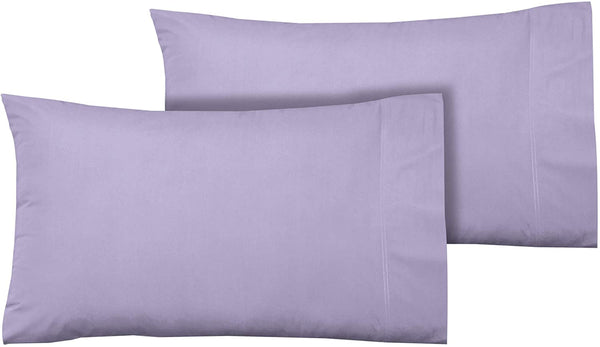 100% Cotton Sateen Pillowcase Set, Soft & Smooth Sateen Weave 2 Piece Set, Long Staple Combed Cotton, Hotel Quality, Oeko-TEX Certified - Standard Pillowcase, Lavender - by Boston Linen Co
