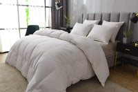 Eastwarmth Goose Down Feather Comforter/Duvet Insert for All Season, 100% Organic Cotton Down-Proof White King Size