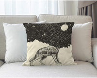 Moslion Star Pillow Cover Vintage Music Hipster Rock N Roll Gesture with Rock Star Throw Pillow Case 18x18 Inch Cotton Linen Square Cushion Decorative Cover for Sofa Bed Black White