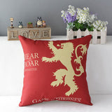 "TavasHome 17"" Square Game of Thrones Cotton Linen Home Decorative Throw Pillow Case Cushion Cover - Stark - Winter is Coming"