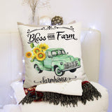QUXIANG 4pcs Pillow Covers 18x18 Inches Floor Pillow Cases Flower Decorative Cotton Linen Cushion Case for Sofa Bedroom Car Housewarming Gifts Home Decor Invisible Zipper