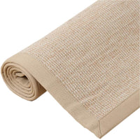 Wgreat Breathable Linen Area Rug,Non Slip Soft Hand-Woven Luxury Jute Door Mat Sisal Carpet for Living Room Bedroom Cat Scratch Board-e 60x90cm(24x35inch)