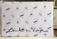 London Kaye Dragonfly Sheet Set - Queen Size Set (Dragonflies)
