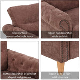 COLIBROX>>>Modern Linen Fabric Sofa Love Seat Couch Upholstered 2-Seater Nailhead Brown New>This is Our Sofa which Combines Comfort with Fashion. with Extra thickly upholstered Cushions