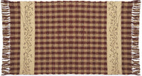 IHF Checker Berry Woven Rug 24 Inches by 42 Inches