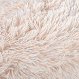 "NordECO HOME Luxury Soft Faux Fur Fleece Cushion Cover Pillowcase Decorative Throw Pillows Covers, No Pillow Insert, 20"" x 20"" Inch, Beige, 2 Pack"