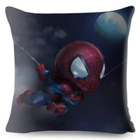 America Anime Cartoon Marvel Avenger Cushion Cover Sofa Deadpool Superman Spider man Iron Man Pillow Case Decor Pillow Cover