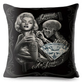 Mexico Chicano Style Marilyn Monroe Cushion Cover for Sofa Home Throw Pillow case Decorative Pillowcase Cartoon Linen 45*45 cm