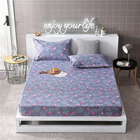 1.2m/1.35m/1.5m/1.8m 1pcFitted Sheet Mattress Cover Four Corners With Rubber Elastic Band Adult Kids Child Bed Linens Bedsheet19