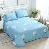 Wholesale 1 Pcs Bed Sheet Polyester Bed Linen Mattress Covers Fitted Sheet Sets Flat Sheet Bedsheet Queen King Full Twin Size