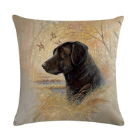 Retro Style Cute Dog Printed Cushion Cover Decorative Sofa Throw Pillow case Cotton Linen Square Almofadas Cojines ZY270