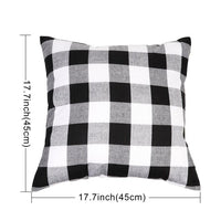 OurWarm 45x45cm Cotton Linen Plaid Cushion Cover White Black Checked Red Lattice Pillow Cover for Sofa Room Home Office Decor