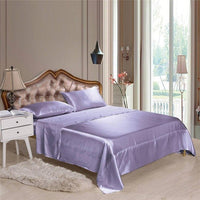 Soft silk fitted sheets sets satin US Twin/Queen /King full sizes solid color Bedding 4pcs/set bedspread bed linens set