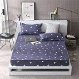 Parkshin 1PCS Corners Bed Sheet Euro Fitted Sheet On Elastic Band Rubber Sheet Mattress Covers Pillowcase Double Queen Linen