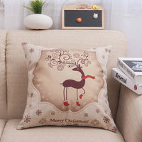 MIHE Character Pillow Cover Home Cotton Linen Cushion Cover 45*45cm Decoratives Cushions for Sofa Seater Covers Car Pillow Case