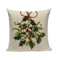 Christmas Festival Santa Claus Cushion Cover 45X45cm Happy Birthday Deer Pillow Cases Kids Gift Bedroom Sofa Decoration