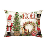 30*50cm red Truck Christmas Tree Linen / Cotton polyester Cushion Cover and Sofa Pillow Case Home Decorative Pillow CoverYZ05