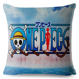 Colorful One Piece Cartoon Luffy Ace Print Cushion Cover 45*45 Pillow Covers Linen Pillows Cases Sofa Home Decor Pillowcase