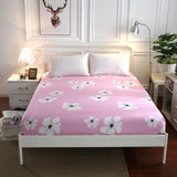 1 Pcs Bed Sheet Printed Bed Linen Full Twin Queen Size Mattress Covers Height 25cm Fitted Sheet with Elastic for King Size
