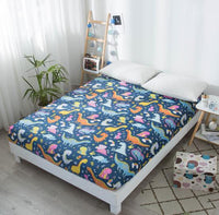 DHL 10pcs/lot High-grade Creative Fitted Sheet Mattress Cover 120/150/200cm Printed Bed Sheet Bed Linens bedclothes