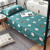 Yaapeet Printed Bed Set Linens 1pc Flat Bed Sheet +2pc pillowcase Plain Printed for Single/ Double Bed Twin Queen King Bedsheet