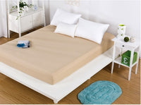 Wholesale solid color sheets fitted bed sheet elastic mattress cover bed linen bedspread polyester cotton single twin full queen