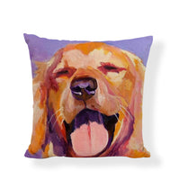 Oil Painting Dog Cushion Cover Golden Retriever 45*45cm French Bulldog Samoyed Poodle Terrier Pillow Case Home LIving Room Decor