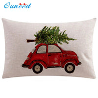 50x30cm Rectangle Cushion Cover Vintage Christmas decorative pillows case u70909