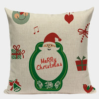 High quality Christmas Pillow Covers custom linen Cushion Cover Decorations for Home car print  throw pillows dropshipping