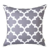 Topfinel Decorative Cheap Cushion Covers Geometric Cotton Linen Throw Pillows Cases for Home Sofa Couch Bed Gray Color 45x45cm