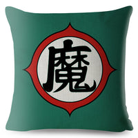 Japan Anime Dragon Ball Print Throw Pillow Cover 45*45cm Textile Cushion Covers Linen Pillow Case Sofa Home Decor Pillows Cases