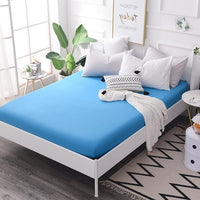 140x200cm Blue Fitted Sheet Mattress Cover with All-around Elastic Rubber Band Printed Bed Sheet Hot Selling Bed Linens