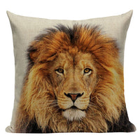 High Quality  Animal Series Cushion Cover Home Decor Cushions Custom Throw Pillows Tiger Elephant Monkey Pillow Cover For Car