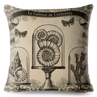 European Vintage Gothic Style Cushion Cover 45*45 Linen Pillow Covers Flowers Print Throw Pillows Cases Home Decor Pillowcase