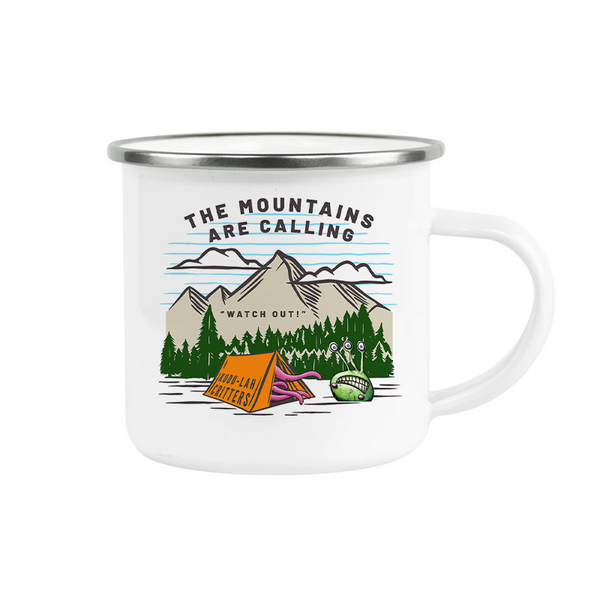 Camp Mug, The Mountains are Calling