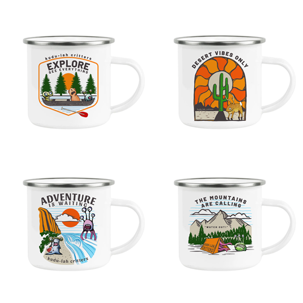 Camp Mugs, Set of 4