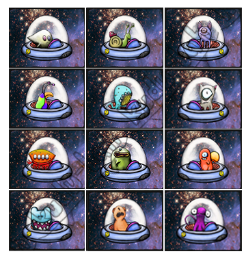 12 SPACESHIP CRITTERS!