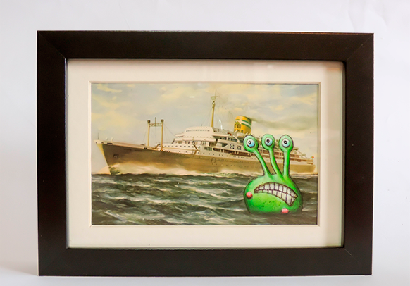 Postcard Painting - High Seas - kudu-lah