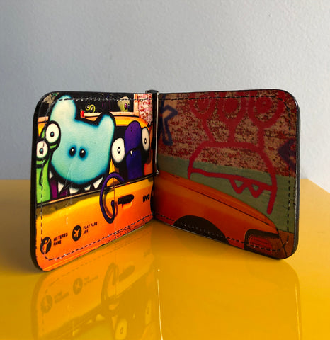 Artist Edition. Taxi Cab Wallet, Limited Edition of 5!
