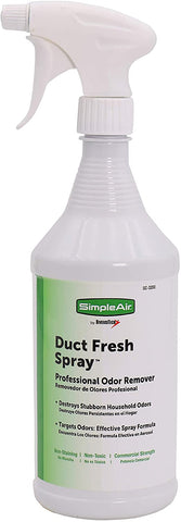 Picture of SimpleAir SC-3200 Duct Fresh Spray Air Freshener, Cleaner, Deodorizer Professional HVAC home & automotive odor remover, 32 Oz, clear, 32 Fl Oz