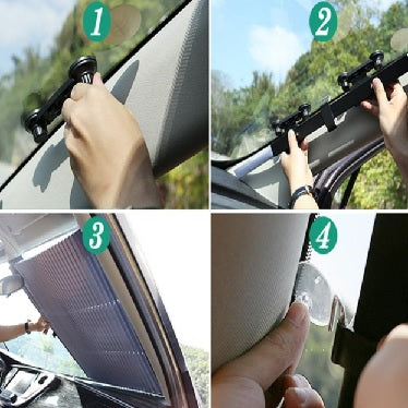 Car Retractable Windshield Cover | yoyowiz