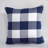 Hoplee Decorative Throw Pillows 20x20 Navy Blue Buffalo Plaid Pillow Covers Set of 2