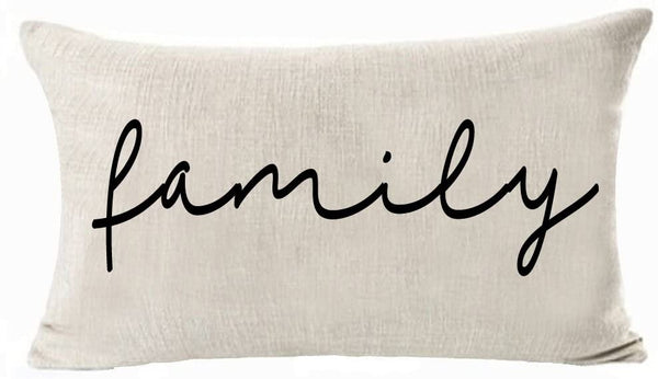 Andreannie Nordic Simple Warm Sweet Home Family Blessed Cotton Linen Decorative Lumbar Throw Pillow Cover Personalized Cushion Cover New Home Office 12x20 Inches ¡­