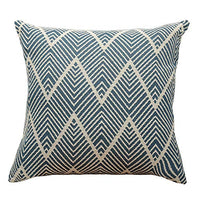 OJIA Decorative Lumbar Throw Pillows Cover, Ticking Striped Cream & Gray Texured Pillow Cases Accent Cushion Cover Tufted Neutral Geometric Contemporary for Farmhouse Living Room (12x20inch, Stripe)
