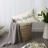 Meekio Farmhouse Pillow Covers with Better Together Quote 12 x 20 inch Farmhouse Rustic Décor Lumbar Pillow Covers with Saying Housewarming Gifts Family Room Décor